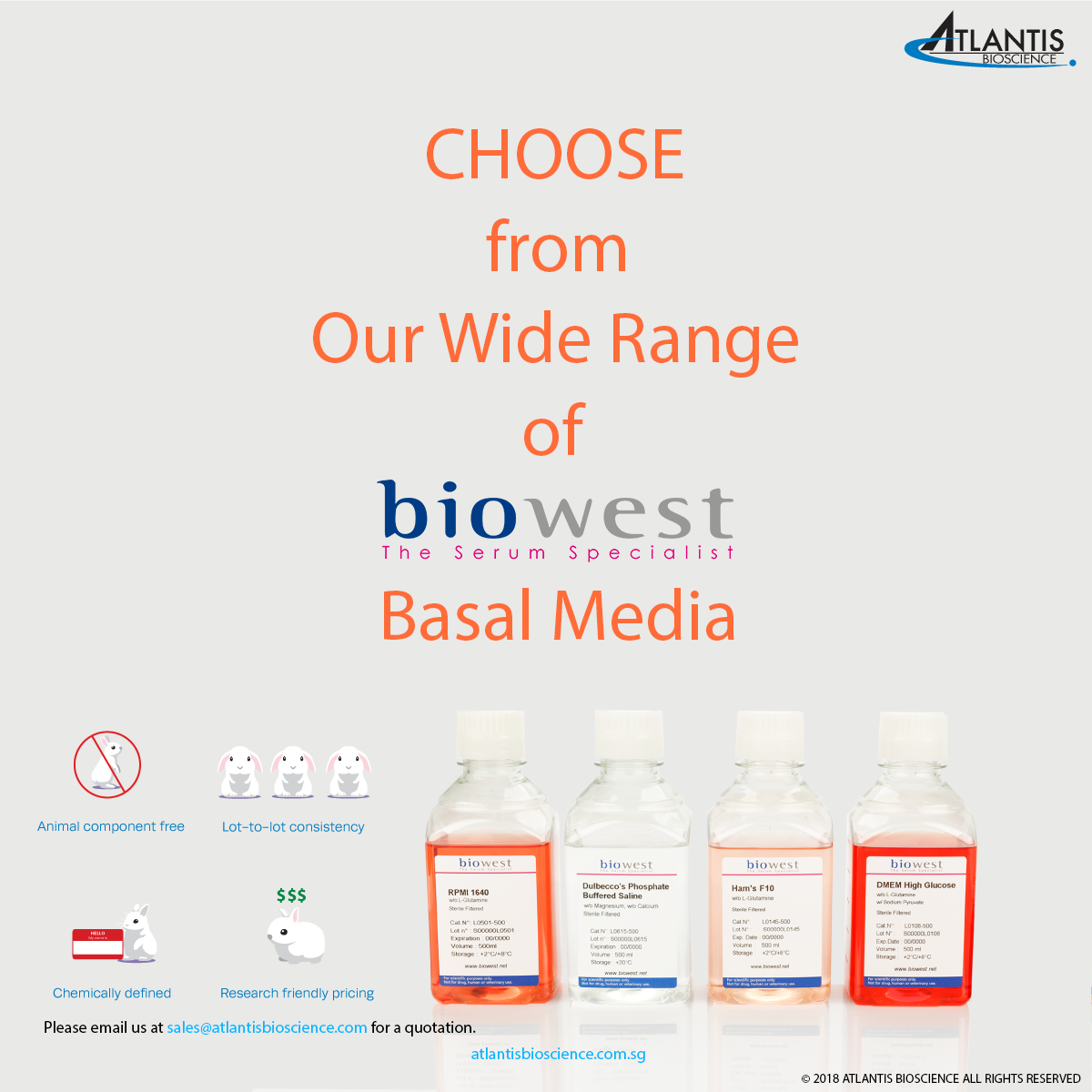 July'18-  Biowest Basal media for South East Asia Distributors