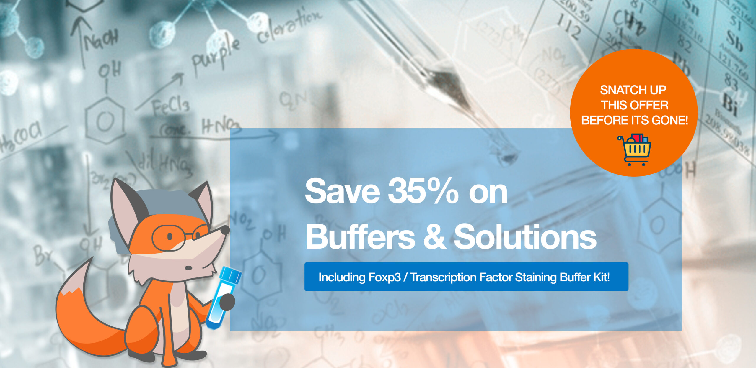 Save 20% off Buffers and Solutions